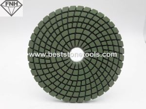 Wet Spiral Polishing Pads with Bright Green Color
