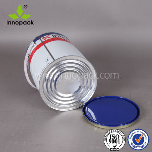 Un Rated Round 4L Printed Paint Metal Tin Can with Lid and Handle pictures & photos