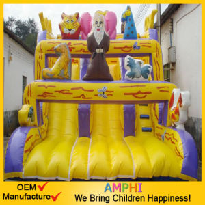 Giant Circus Clown Inflatable Slide for Commercial Rental Use