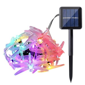 6m 30 LED Christmas Solar String Lights 8 Modes Dragonfly