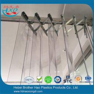 China Accordion Steel Durable Pvc Strip Curtain Assembly