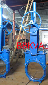 Knife Gate Valve Rising Stem Gearbox with Handwheel pictures & photos