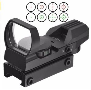 Red and Green Reflex Sight with 4 Reticles for 11mm Rail