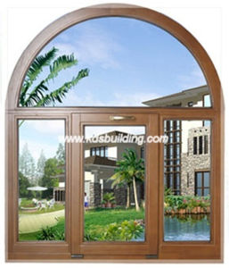 Solid Wood Oak Window with Arch Design (KDSW010)