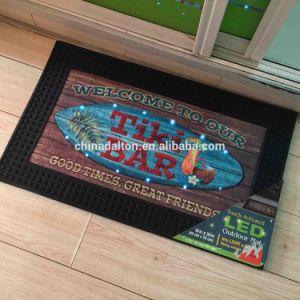 Rubber Outdoor Welcome Entrance Touch Activated Music Sound Sensor LED  Light up Doormats Door Mats Floor Mats