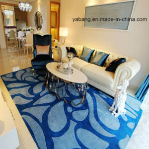 Blue Color Desgin Clipping and Carving Hand -Made Carpet