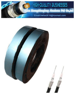 Single Side Blue Color Aluminum Coated Polyester Film Pet Tape for Flexible Duct
