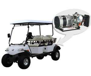 Utility Vehicle with Basket and Hybrid Generator (DEL2042D, 4-Seater) pictures & photos