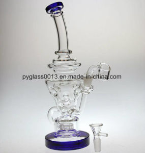 Glass Water Pipes Silicone Smoking Recycler Oil Rig Pipe