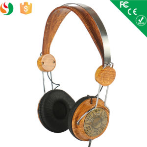 Hoting Selling Noise Cancelling Wood Stereo Headphones pictures & photos