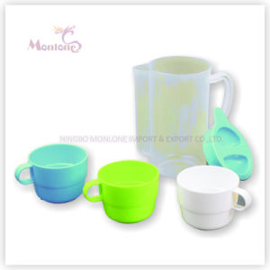 Plastic Water Jug and Cup Set pictures & photos