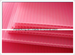 Pink White Yellow 4mm-12mm Thick Corrugated Plastic Sheet / Board for Packaging Material pictures & photos