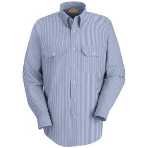 018cb77655 China Men′s Striped Long Sleeve Formal Dress Uniform Work Shirt ...