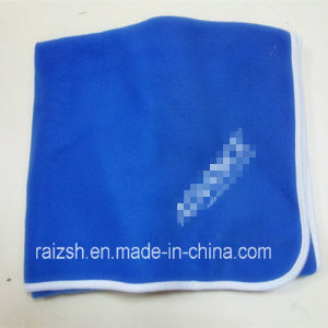 Knitted Double Color Polar Fleece Blanket Promotion Gift