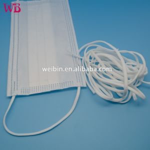 Surgical Flat Mask nonwoven 8mm 3 Free Elastic Sample Strip Material Earloop Band
