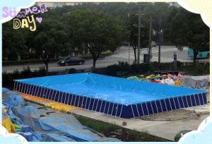 China Largest Rental Square Metal Frame Pool China Above Ground Swimming Pool Rectangular