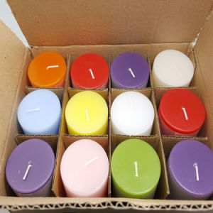 7.5X7.5 Fragrance Paraffin Wax White Pillar Candle pictures & photos
