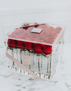 Custom Acrylic Flower Packaging Box Luxury pictures & photos