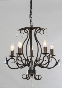 UL Approval Orb Finishing Wroght Iron Top Sale Candle Chandelier