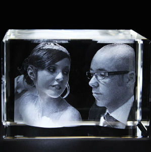 3D Laser Engraving Crystal Blank Engraved Cube for Decoration pictures & photos