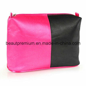 Red and Black Stain with PVC Backing Cosmetic Bag BPS047