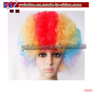 Party Wig Football Fans Afro Wigs Party Holiday Decoration (C3023) pictures & photos