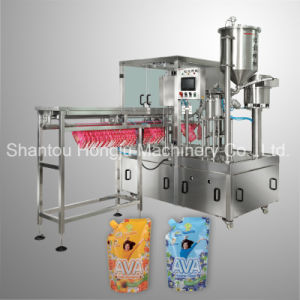 Detergent Filling Machine for Standing Pouch with Side Cap