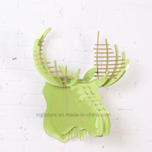Wooden Crafts Creative DIY Home Decoration Deer Head Hanging