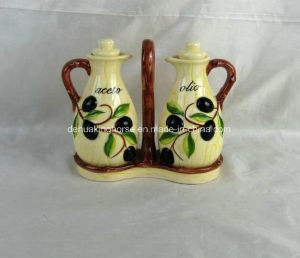 Hand-Painted Ceramic Oil & Vinegar Bottles pictures & photos