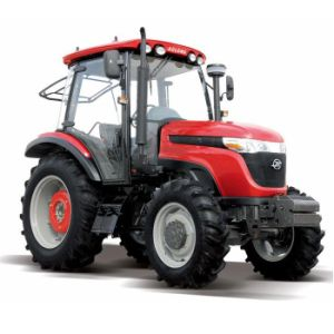 High Quantity 90HP 4WD Agricultural Tractor with Cabin and Paddy Tyre Ts904