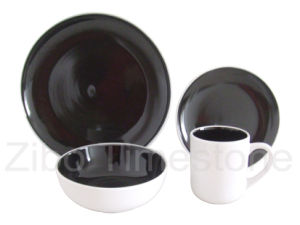 16PCS Stoneware Double Color Glazed Dinner Set (TM7502) pictures & photos