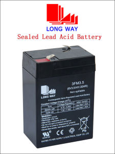 Lighting System UPS SLA Rechargeable Sealed Lead Acid Battery pictures & photos
