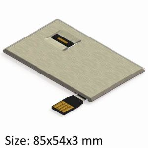 USB Credit Drive with Full Aluminum Shell & Fingerprint Verify (UF164-VB)