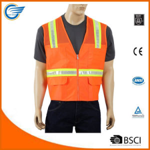 Safety Vest with 4 Lower Pockets 2 Chest Pockets pictures & photos