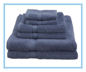 Navy Blue Bath Towel for Hotel Pool Towel (DPF201616) pictures & photos