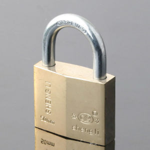 Gold Plated Rhombic Type Padlock pictures & photos