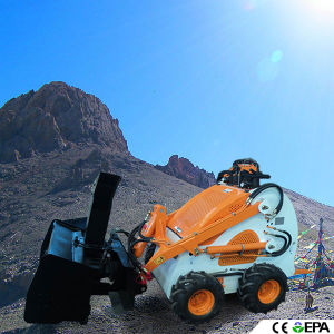 Mini Skid Steer Loader with Snow Blower pictures & photos