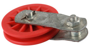 "Red Reinforced-Nylon Pulley 2-1/2"" (#120050)"