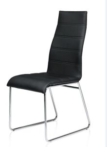 Incredible Black Faux Leather Dining Chair Pabps2019 Chair Design Images Pabps2019Com