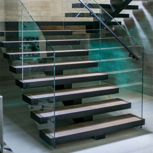 Modern Marble Step Straight Staircase Stone Ladder Stairs