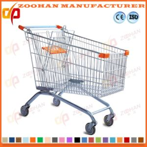 Wire Metal Store Grocery Folding Supermarket Shopping Cart Trolley (Zht163) pictures & photos