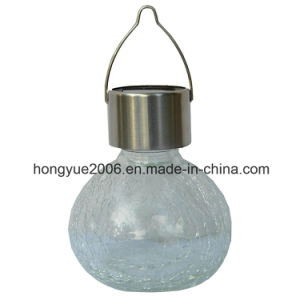 3 x White Led Solar Stainless Steel Hanging Crackle Ball Garden Lights Lanterns