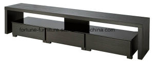 Modern Wooden Veneer Laminated TV Stand with Tempered Glass Top N20210d