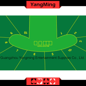 Texas Hold′em Poker Table Layout - 4 (YM-DZ01G1) pictures & photos