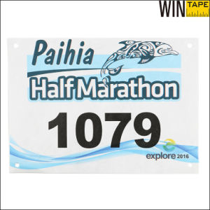 Marathon Running Cycling Tyvek Customized Bib Number pictures & photos