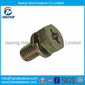 Phillps Hex Head Color Zinc Plated Machine Screw Combination Screw pictures & photos