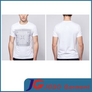 Round Neck Printed White Tee Shirt Wholesale for Man (JS9016m) pictures & photos
