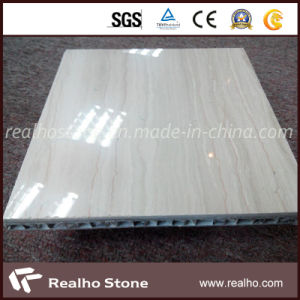 Beige Wooden Aluminum Composite for Wall Cladding Tile