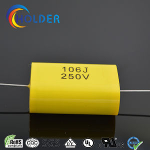 Flat Type Axial Cbb20 106j/250V Metallized Polypropylene Capacitor of 400V 630V 1000V High Performance Copper Wire for Running (TMCF20)