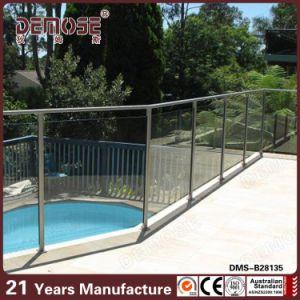 Silver Handrail Balcony Glass Railing for Swimming Pool (DMS-B28135)